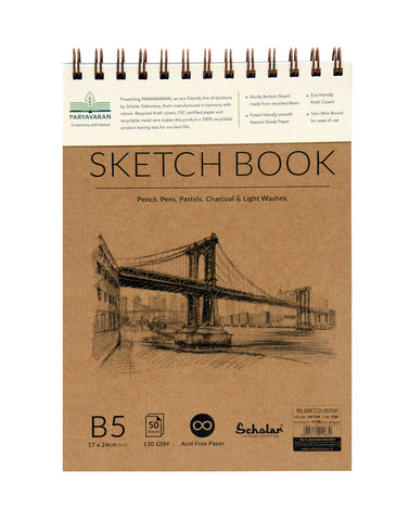 B5 PARYAVARAN SKETCH BOOK (PSB8) (PACK OF 2)