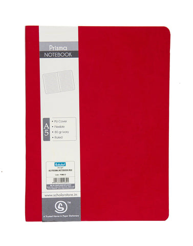 A5 PRISMA NOTEBOOK - RED (PSM2-D)