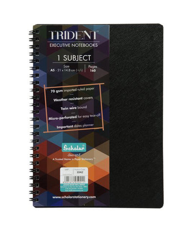 A5 Trident One Subject Notebook