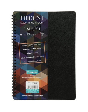 Trident One Subject Notebook - B5