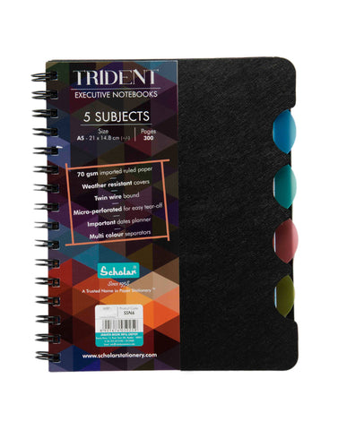 A5 Trident Five Subject Notebook