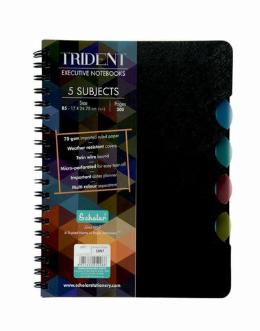 B5 Trident Five Subject Notebook (SSN7)