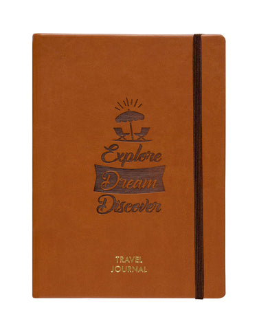 A5 - TRAVEL JOURNAL NOTEBOOK - TAN (TJ2-C)