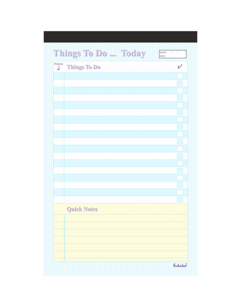 A5 Things to do Pad (Pack of 5)