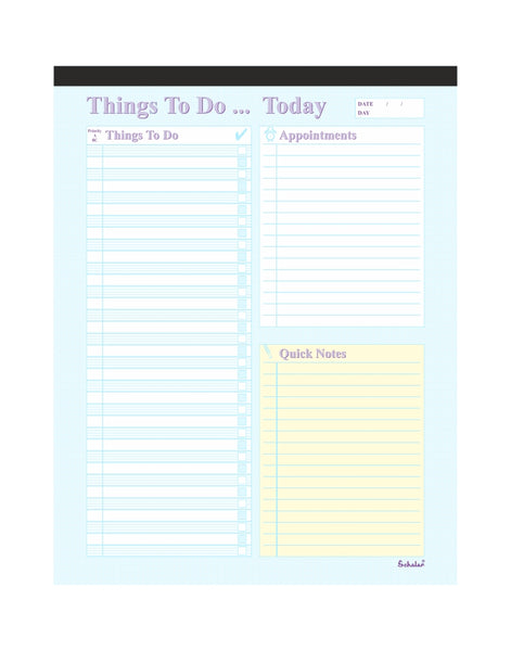 A4 Things to do Pad (Pack of 2) TTD5