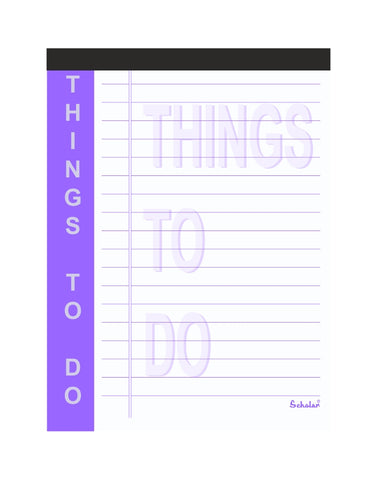 A6 Things to do Pad (Pack of 5)