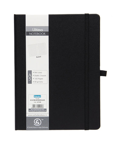 A5 ULTIMA NOTEBOOK - BLACK (ULT2-BK)