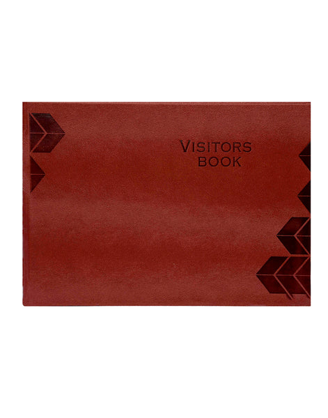 LUXE VISITORS BOOK - BROWN