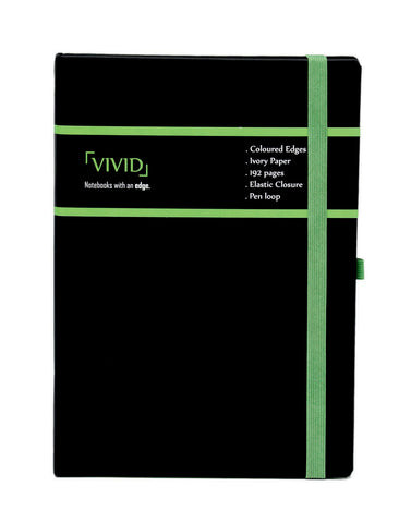 A5 VIVID NOTEBOOK - GREEN