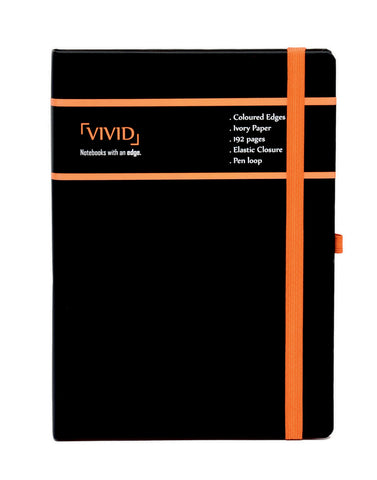 A5 VIVID NOTEBOOK - ORANGE