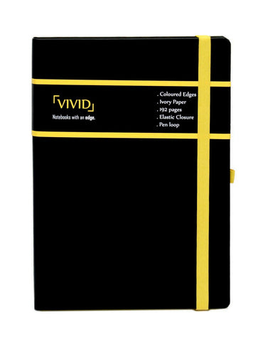 A5 VIVID NOTEBOOK - YELLOW