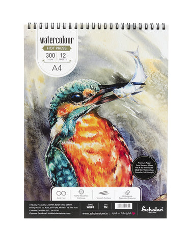 A4 Watercolour Hot Pressed Pad - 300 Gsm (WHP4)