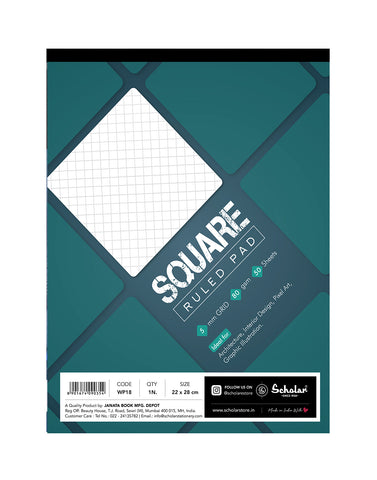 A4 SQUARE PAD (Pack of 5) (WP18)