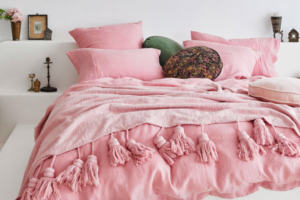 Kip and co French Linen Bridal rose reversible quilt - Adult Bedding - My House Loves