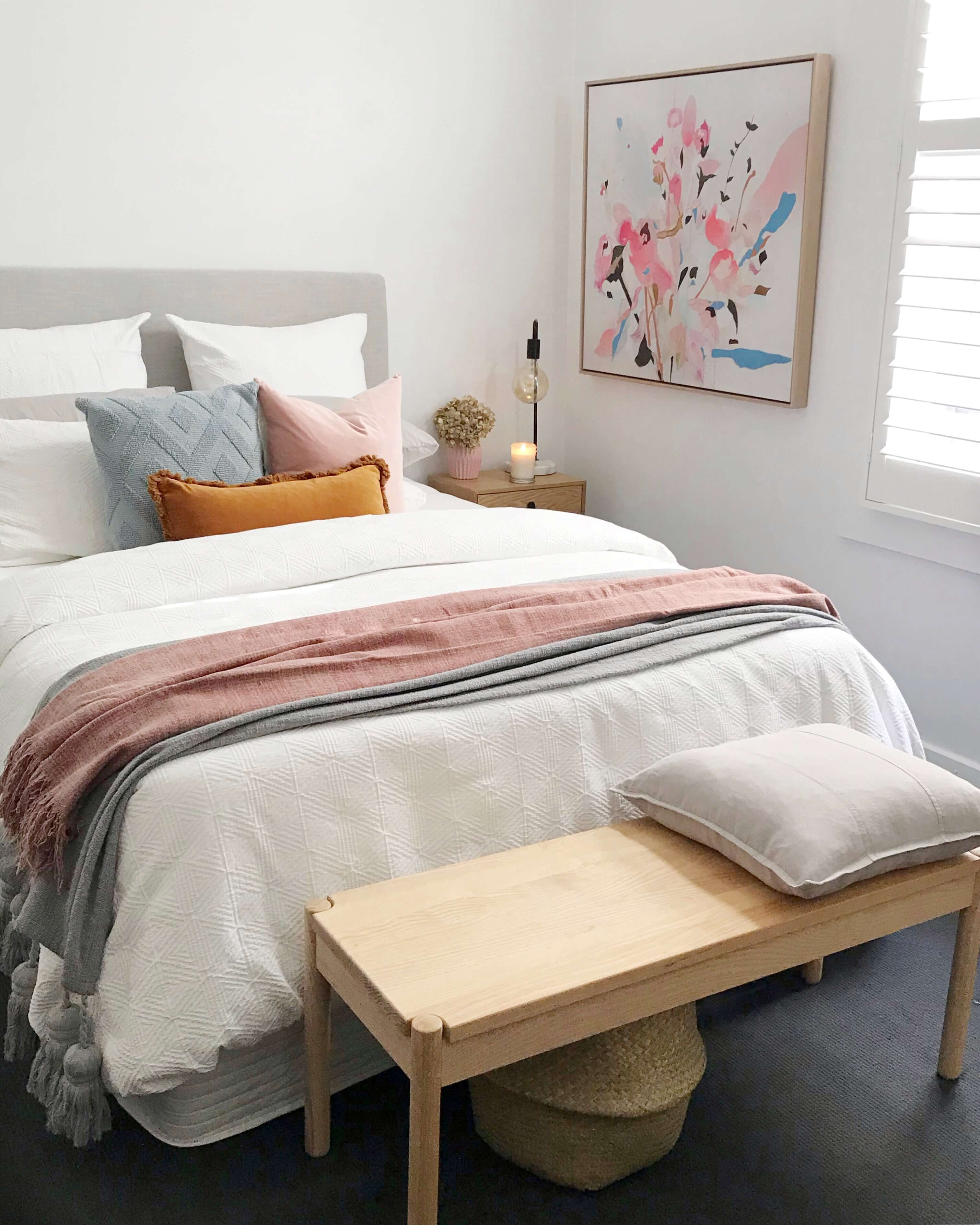 Orana white cotton quilt cover set | Queen and king size |The Home Maven