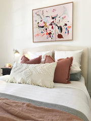 Langdon Fringe Rectangular Cushion White - Homewares - $109 - My House Loves