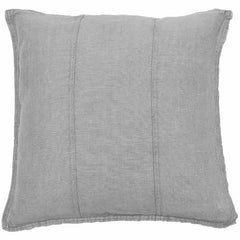 Eadie Luca linen feather filled silver grey cushion | The Home Maven
