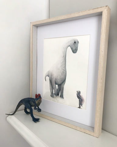 Children's wall art - I Dream of Dinosaurs - Brachiosaurus Dinosaur Print - $49.95-$79.95 | My House Loves