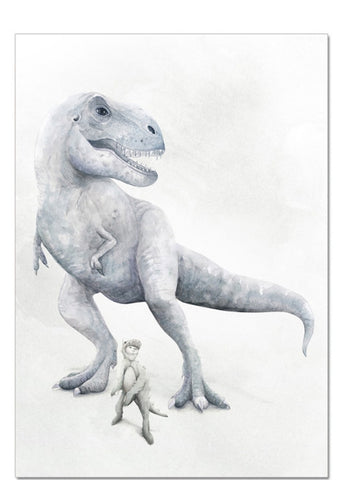 Winter Avenue press - I Dream of Dinosaurs - Tyrannosaurus Trex Print - $49.95 - $79.95. | The Home Maven