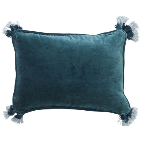 Kip and co Velvet Souk Cushion - Green sea | The Home Maven