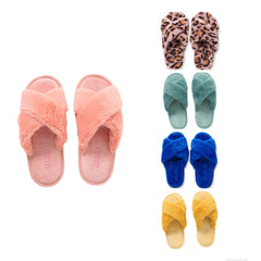 KIP AND CO SLIPPERS PINK LEOPARD BLUE YELLOW JADE BLUSH COLOUR OPTIONS| THE HOME MAVEN
