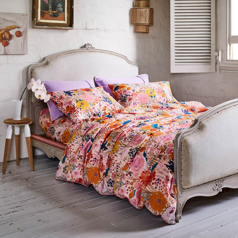 KIP CO FIELD OF DREAMS PINKY PILLOWCASE QUILT COVER |THE HOME MAVEN