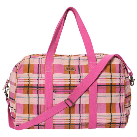 Kip and co duffle bag tartan marmalade| The Home Maven