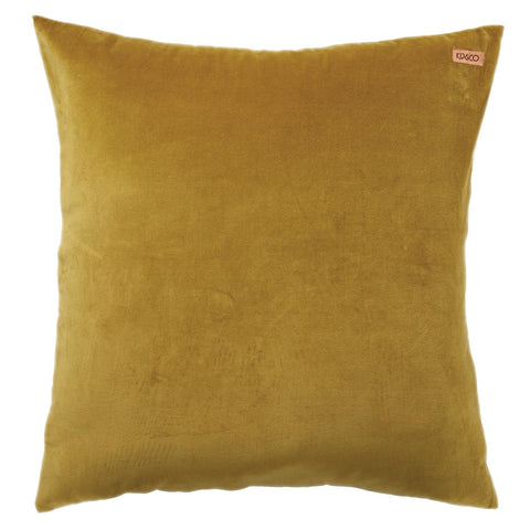 Velvet Euro Pillowcase - Tobacco Gold