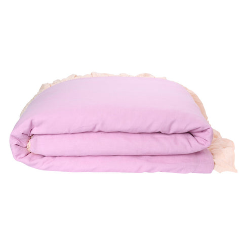 Linen Frill Quilt Cover - Vanilla Cream RV Orchid - Children's bedding - $249 to $269 - My House Loves