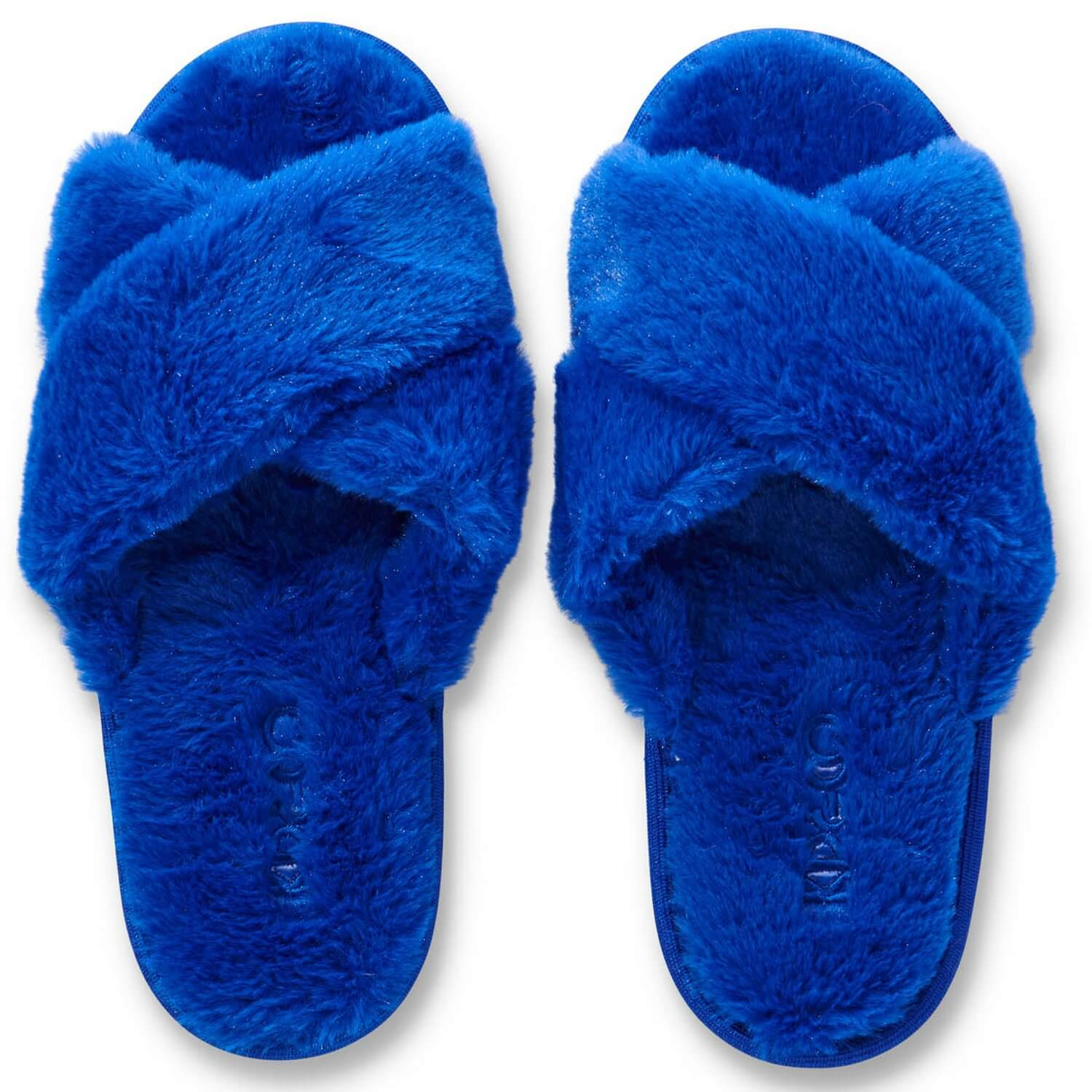 KIP AND CO DAZZLING BLUE SLIPPERS | THE HOME MAVEN