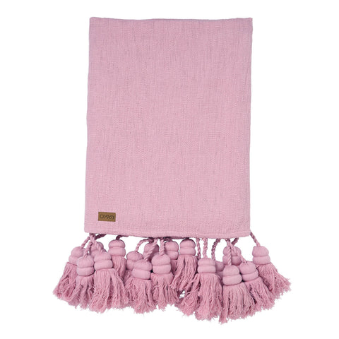 Tassel throw - Lilac