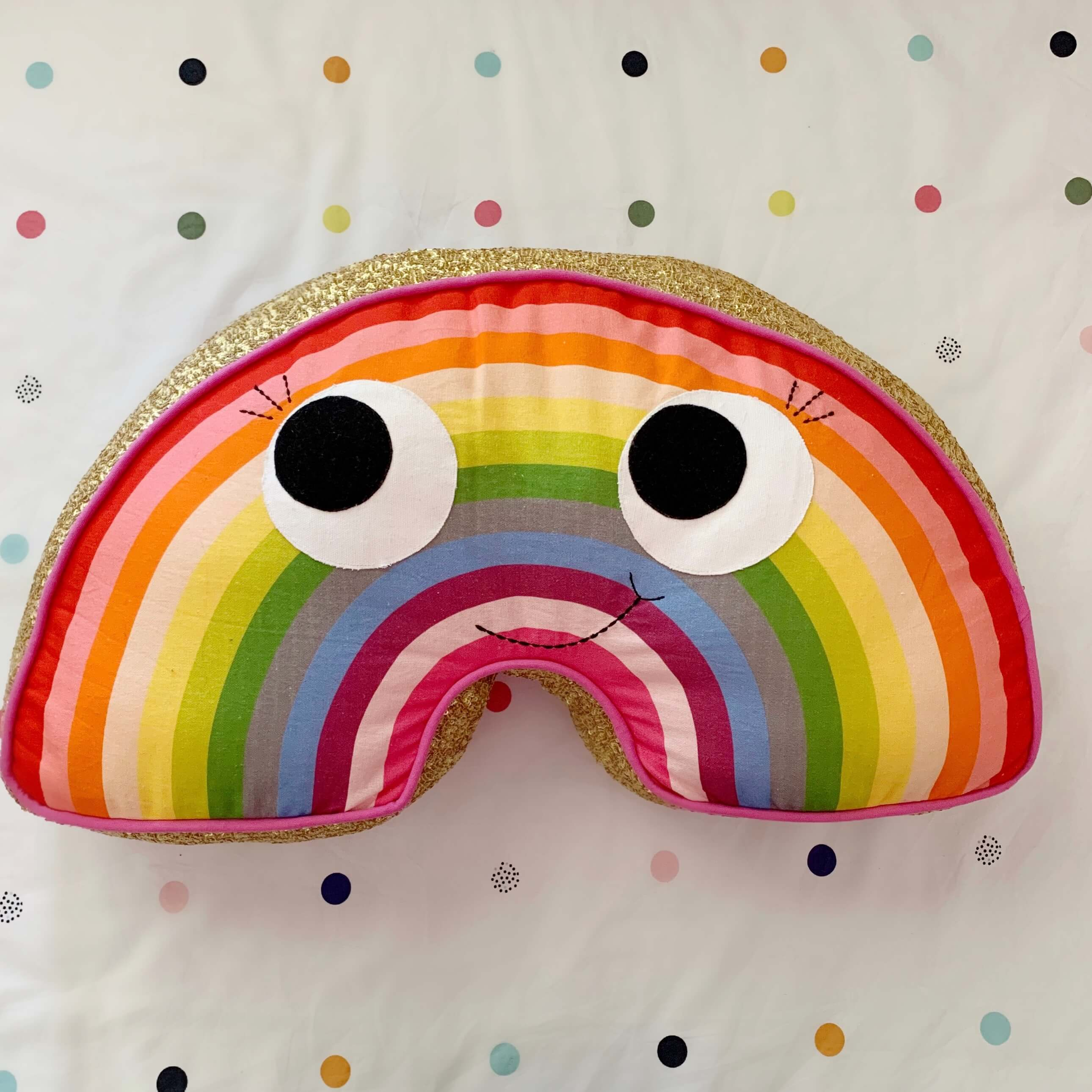 Kip and co rainbow sequin cushion |The Home Maven