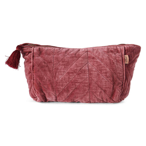 KIP AND CO |QUINCE JAM VELVET TOILETRY BAG |THE HOME MAVEN