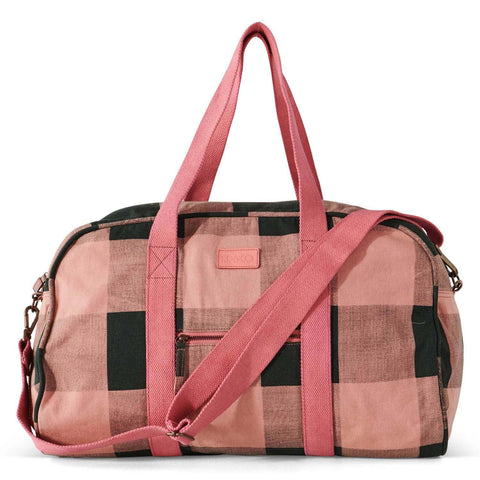 KIP and CO TUSCAN TARTAN DUFFLE BAG |THE HOME MAVEN