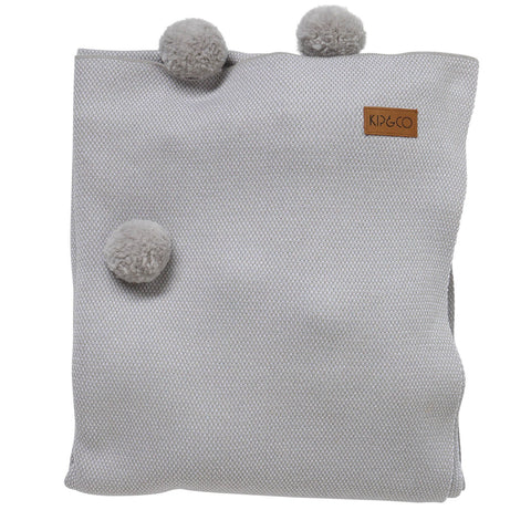 Kip and Co Pom Pom Cotton Throw - Grey |The Home Maven