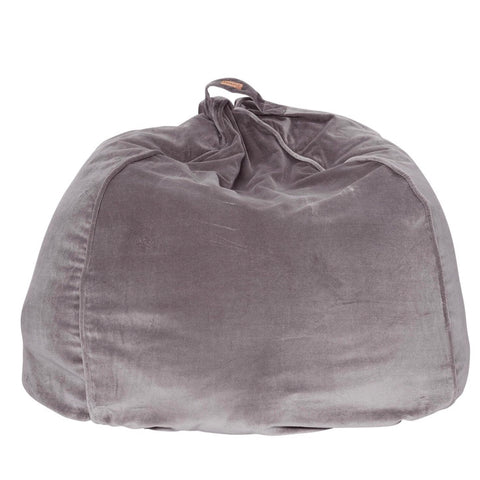 Velvet bean bag storm front grey $139 |My House Loves