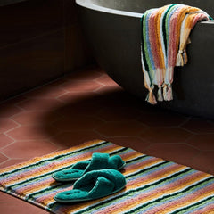 kip and co turkish towels stripes bath mat without fringes |The Home Maven