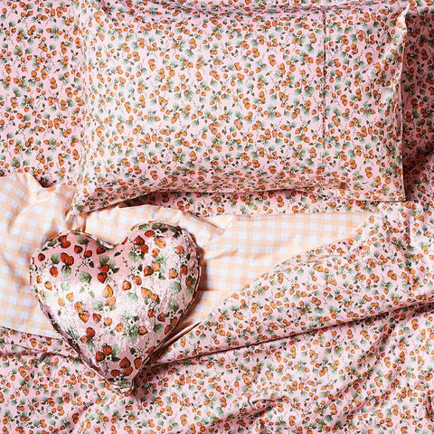 Kip and co The patch peach cotton pillowcase | The Home Maven
