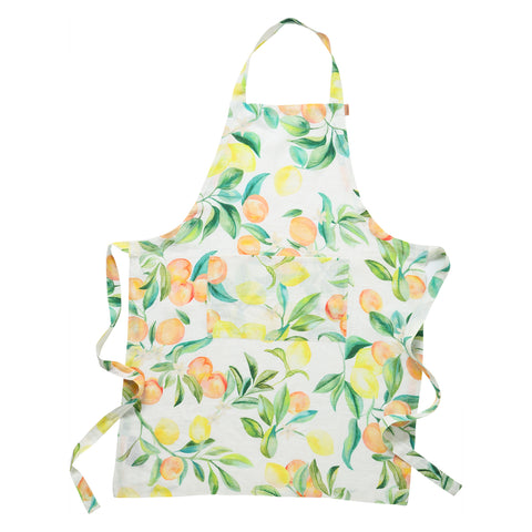 Kip and co Peach punch linen apron | The Home Maven