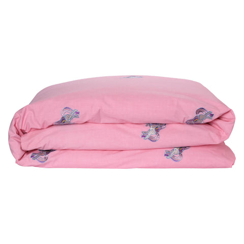 Unicorn Embroidered Cotton Quilt Cover - Children's bedding - $149 - $189 |My House Loves