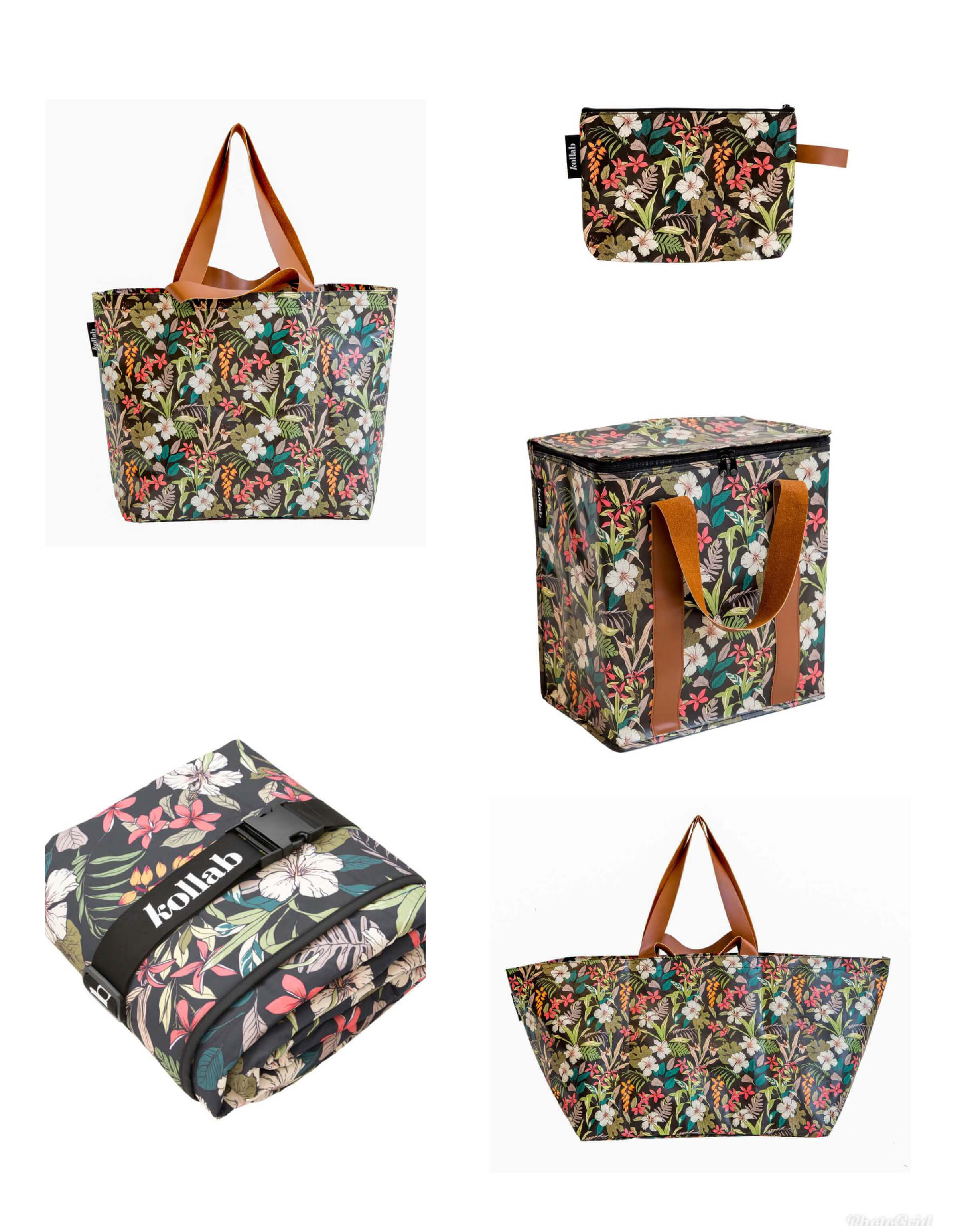 Kollab-hibiscus-picnic-mat-cooler-bag-clutch-shopper-tote-beach-bag-the-home-maven