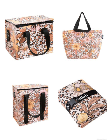 Kollab-leopard-floral-cooler-bag-picnic-mat-shopper-tote-lunch-bag-the-home-maven