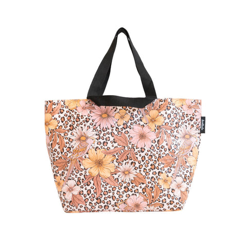Kollab Floral leopard shopper tote |The Home Maven