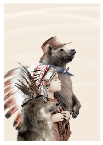 Little Headdress Print - Linn Wold kids prints | The Home Maven