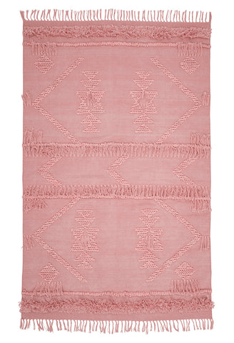 Langdon ltd blush cotton fringe rug |Various sizes| $297 -$858 |The Home Maven