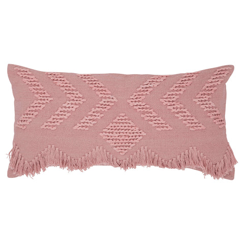 Fringe Rectangular Cushion - Blush - $109 |The Home Maven