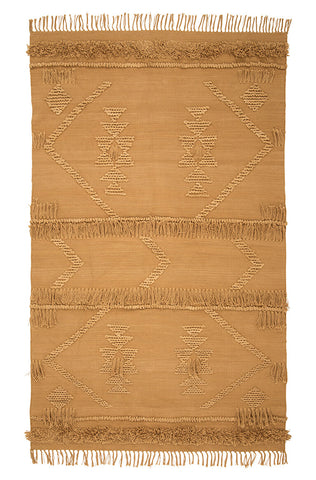 Langdon ltd Cotton Fringe Rug - Tan |Various sizes | $297 -$858 |The Home Maven