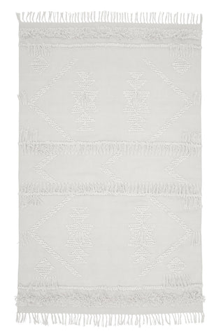 Langdon ltd white cotton fringe rug |Various sizes| $297 -$858 |The Home Maven