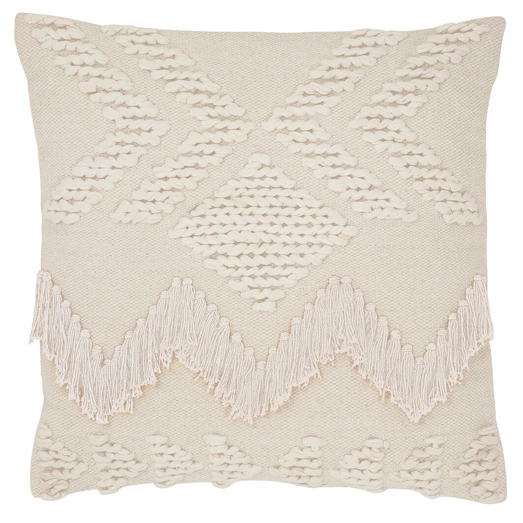 Fringe Cushion- White - $99 |The Home Maven