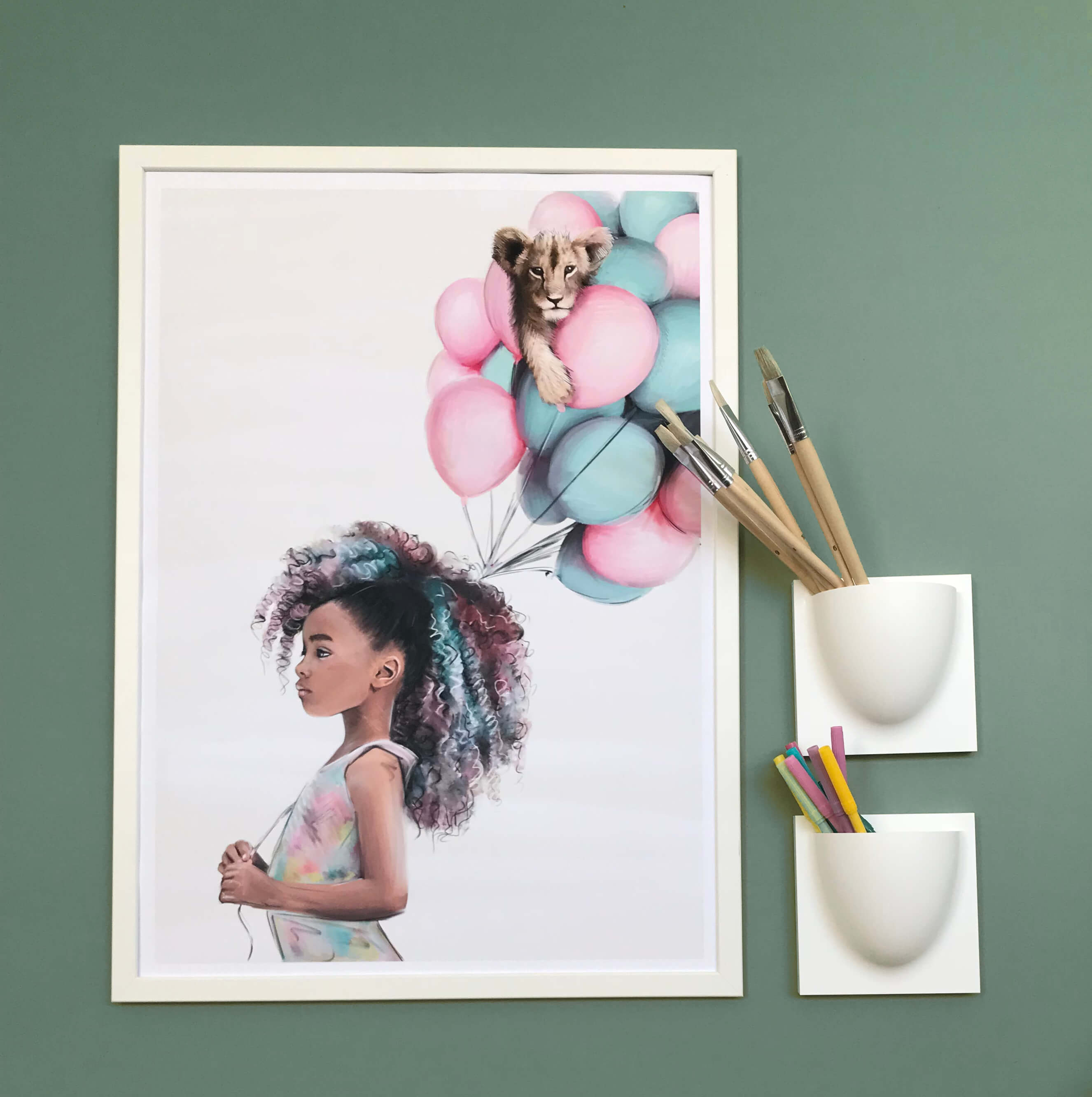 Little Luna Print - Linn Wold kids prints | The Home Maven